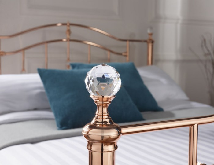 Ashley Rosegold Metal Bed Frame