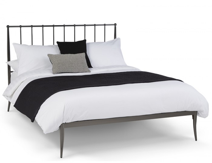 Saturn Black Nickel Metal Bed