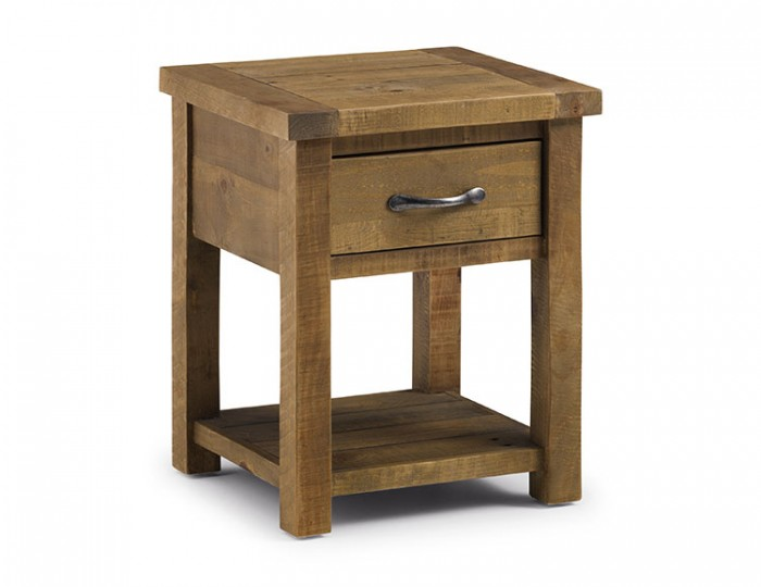 Aspen Solid Pine Lamp Table with Drawer