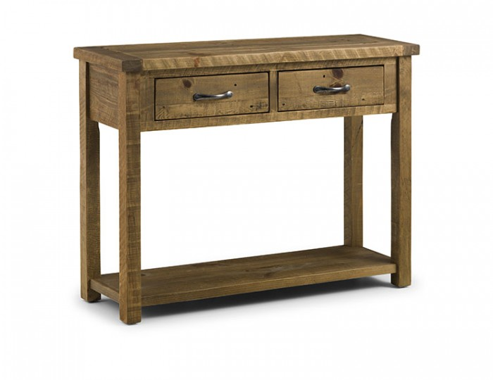 Aspen solid pine console table with drawers frances hunt - Pine sofa table with drawers ...