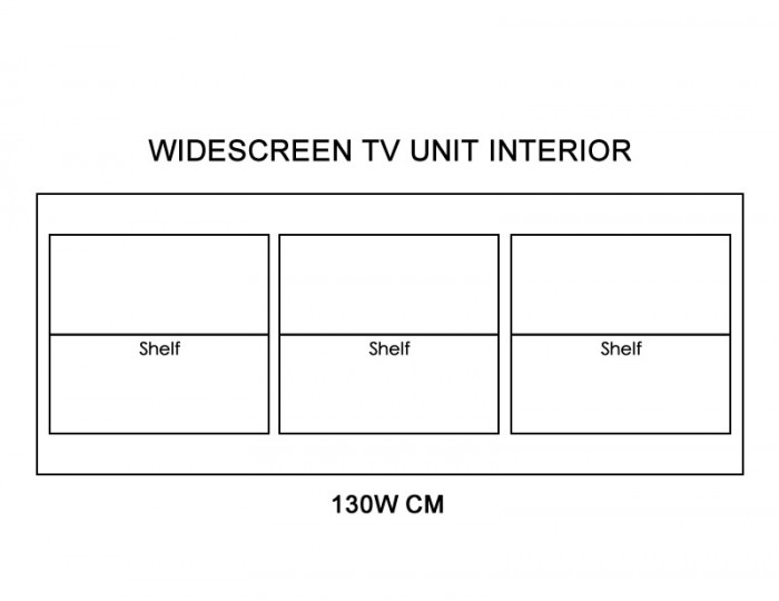 Aspen Solid Pine Widescreen TV Unit