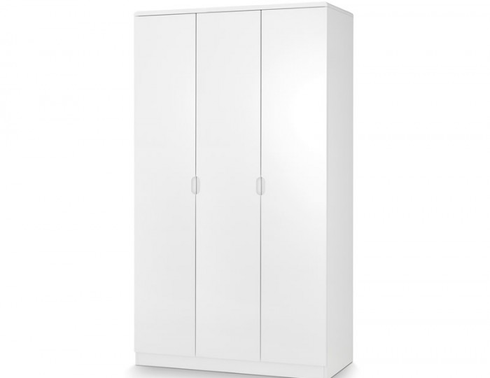 Manhattan White High Gloss 3 Door Wardrobe