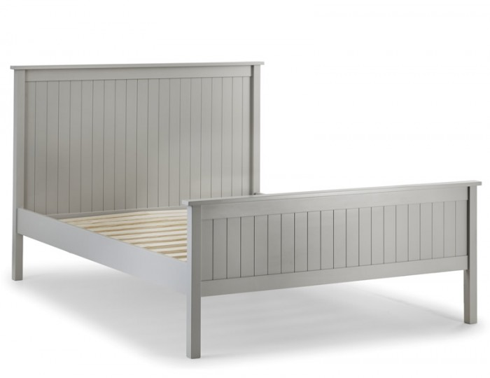 Foxcroft Dove Grey Wooden Bed