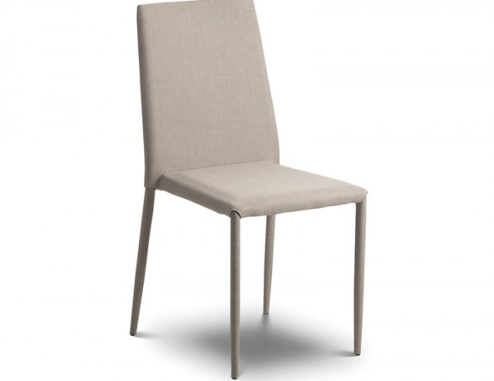 jazz sand linen stacking dining chair uk delivery