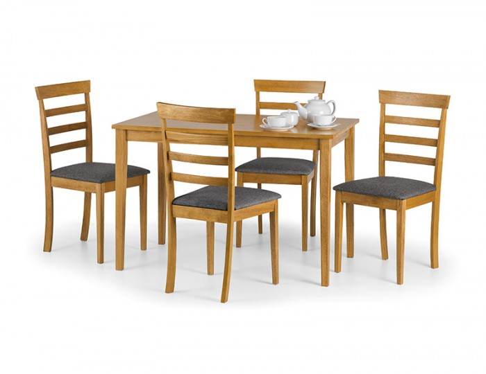 Cleo natural oak dining table and chairs frances hunt - Natural oak dining table and chairs ...