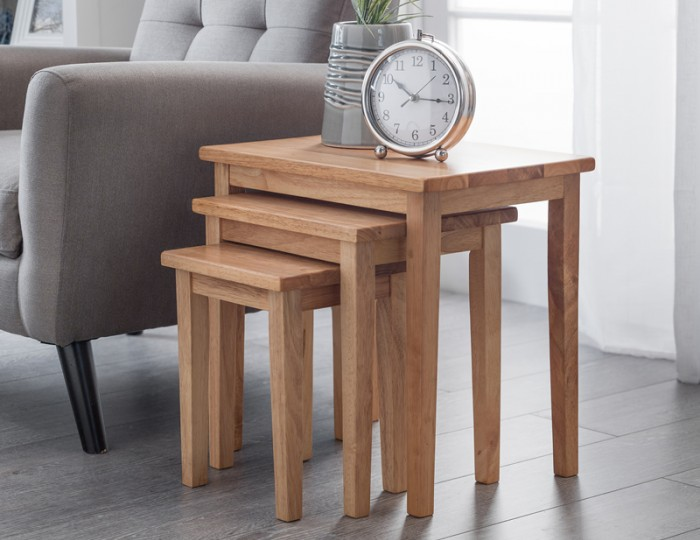 Cleo Natural Oak Nest of Tables