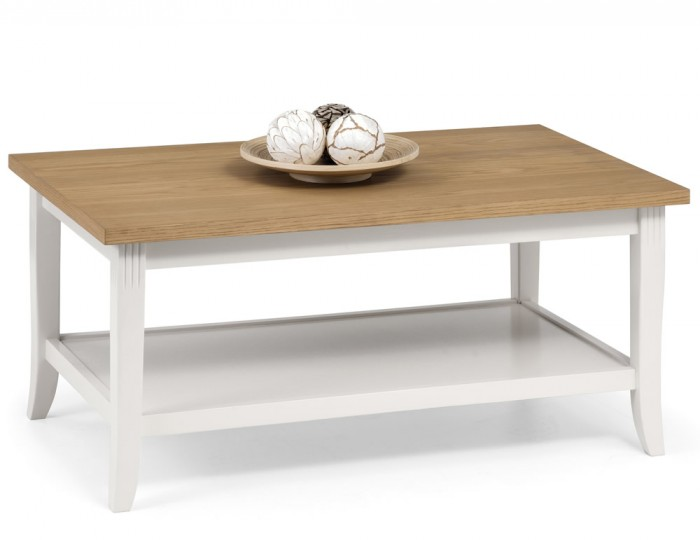 Palmetto White and Oak Coffee Table