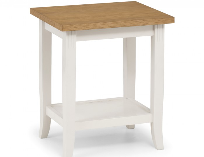 Palmetto White and Oak Lamp Table