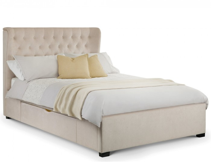 Geneva Pearl Upholstered Storage Bed Frame