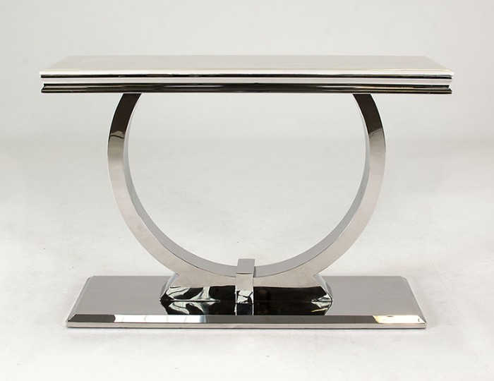 Georgina Marble and Steel Console Table