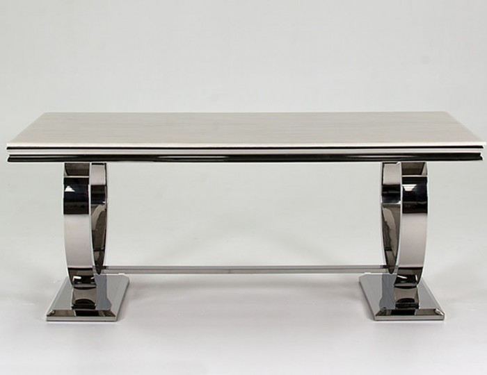 Georgina Marble and Steel Dining Table
