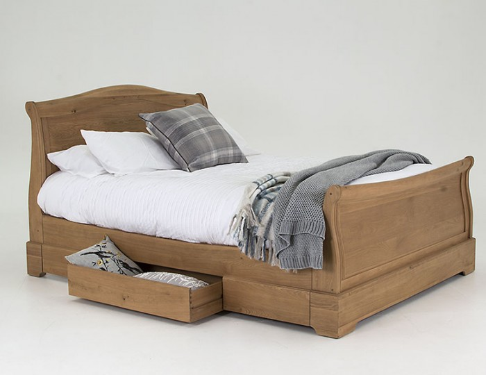 Harmony Premium Oak Storage Bed