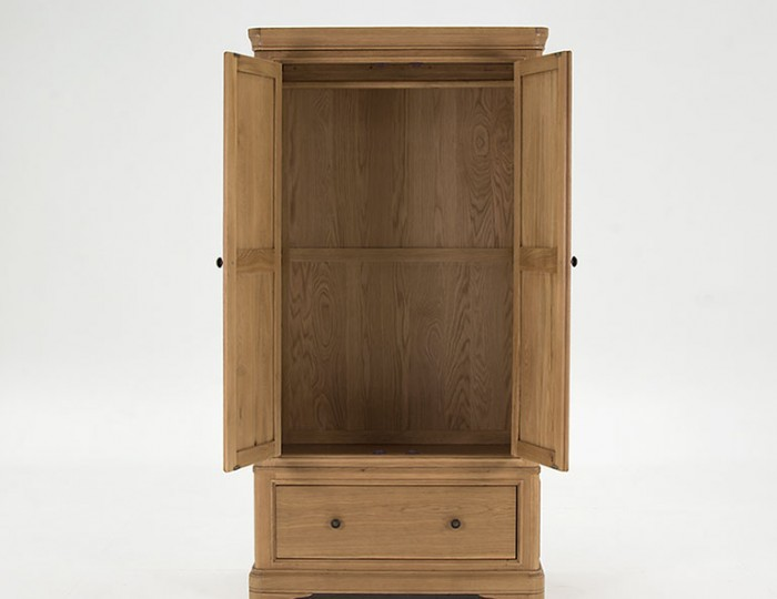 Harmony Premium Oak 2 Door 1 Drawer Wardrobe