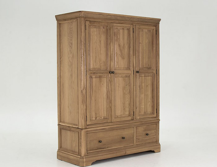 Harmony Premium Oak 3 Door 2 Drawer Wardrobe