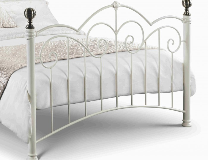 Joan Stone White Metal Bed