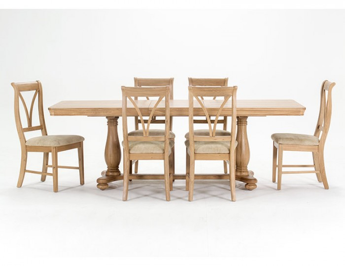Harmony Premium Oak Extending Dining Table and Chairs