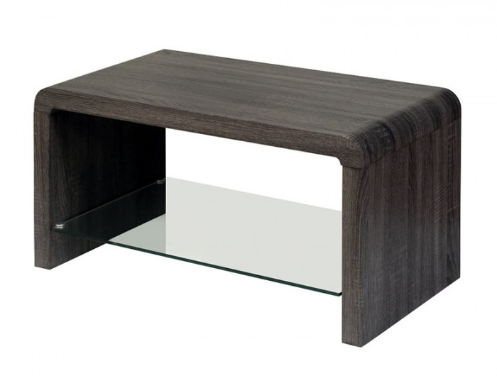 Deloro Charcoal Oak and Glass Coffee Table