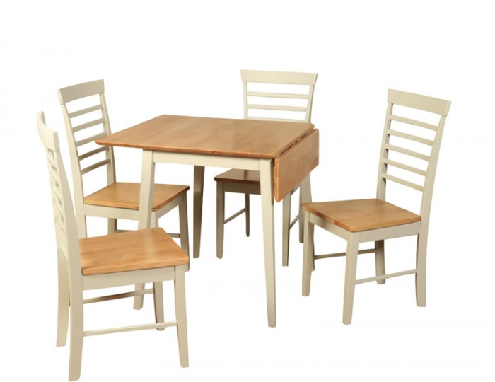 Berlin two tone square drop leaf table and chairs drop for 2 tone dining room sets