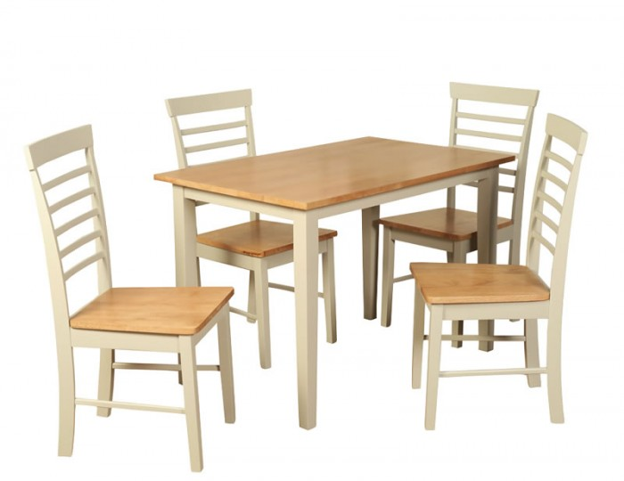 Berlin Two-Tone Dining Table and Chairs