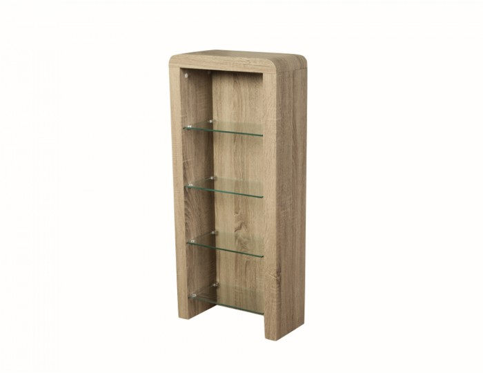 Deloro Dark Oak and Glass DVD Storage Unit