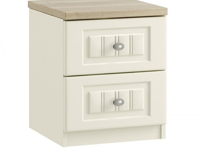 used bedroom furniture piccolo ivory and oak 2 drawer bedside chest frances hunt 13700