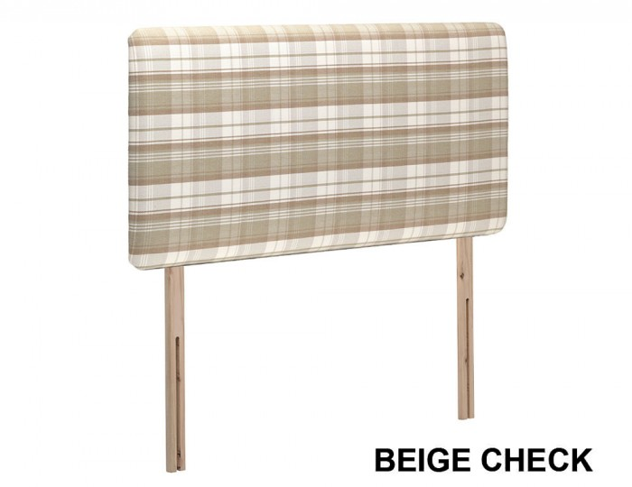 Bellagio Check Upholstered Headboard