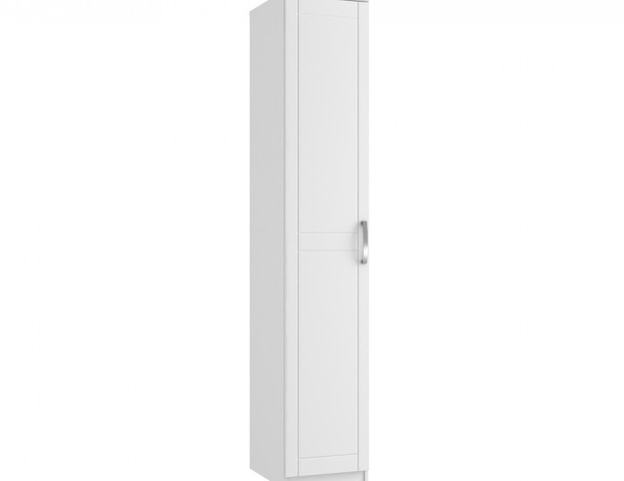 Aretina White 1 Door Tall Wardrobe