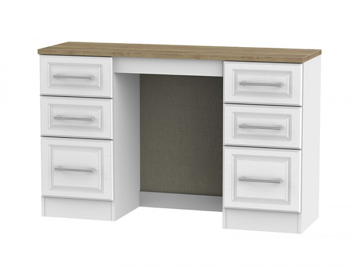 Winchester White Ash and Oak Double Dressing Table