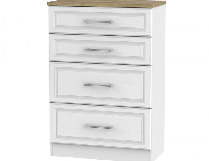 Winchester White Ash and Oak 4 Drawer Deep Chest