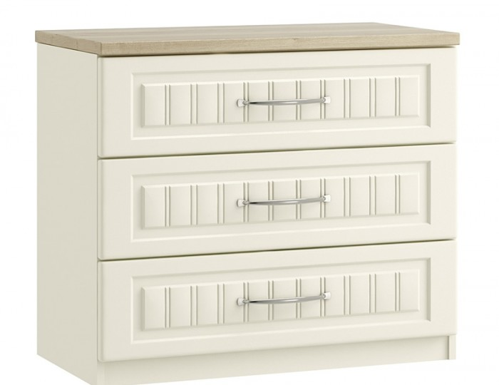 Piccolo Ivory and Oak 3 Drawer Chest