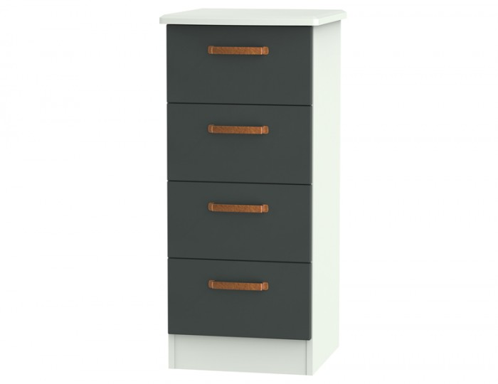Castle Graphite and Copper 4 Drawer Tallboy Chest