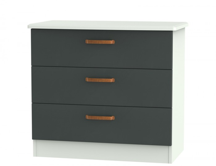 Castle Graphite and Copper 3 Drawer Chest