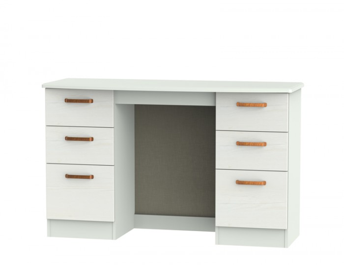 Castle White and Copper Double Dressing Table