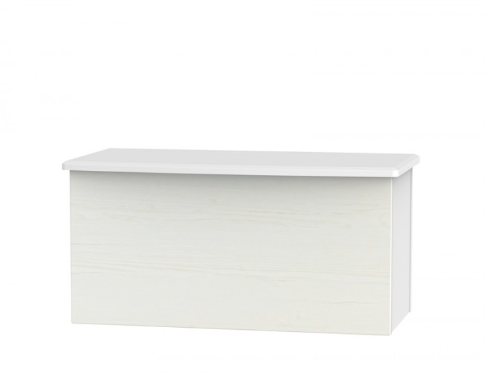 Castle White Blanket Box