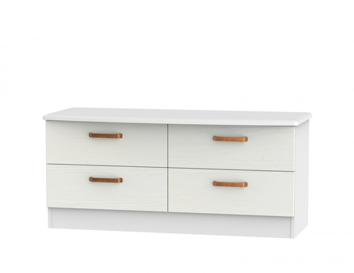 Castle White and Copper 4 Drawer Bed Box
