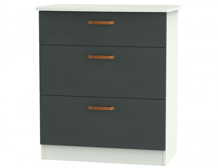 Castle Graphite and Copper 3 Drawer Deep Chest