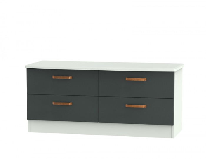 Castle Graphite and Copper 4 Drawer Bed Box