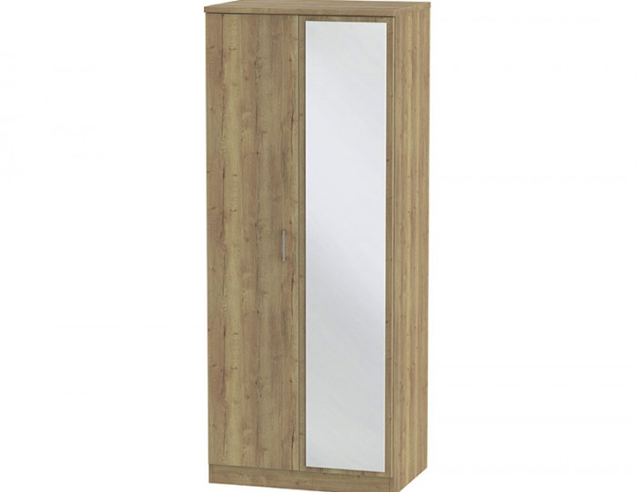 Devon Sterling Oak 2 Door Mirror Wardrobe