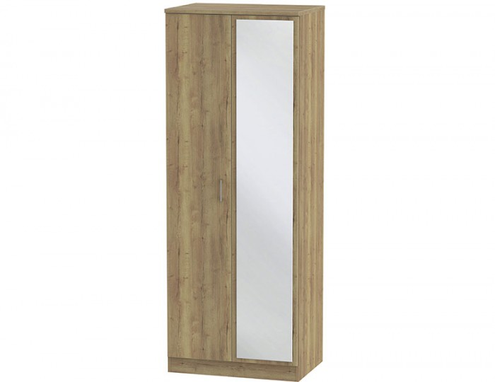 Devon Sterling Oak 2 Door Tall Mirror Wardrobe