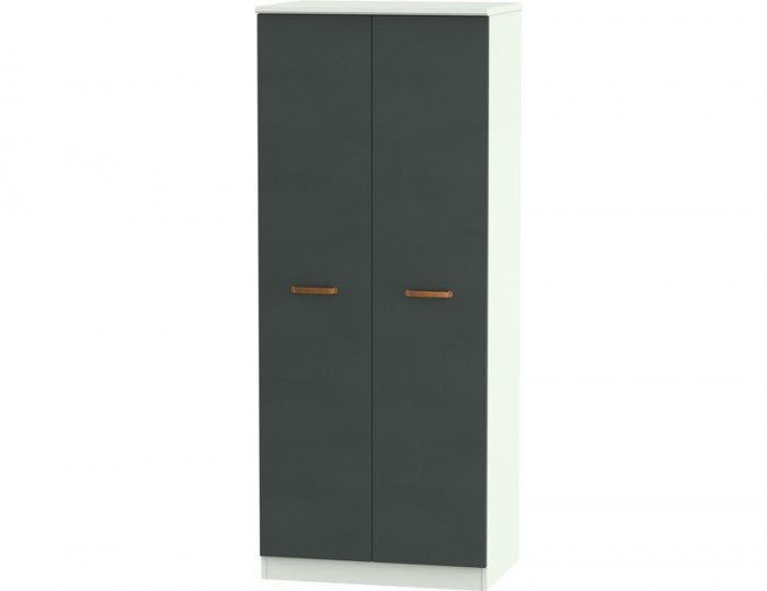 Castle Graphite and Copper 2 Door Wardrobes