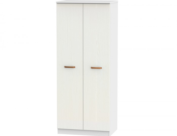 Castle White and Copper 2 Door Wardrobes