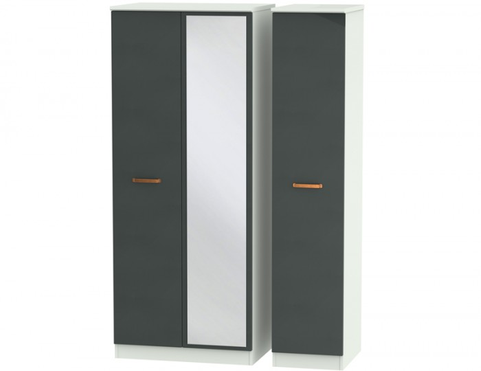 Castle Graphite and Copper Triple Wardrobes