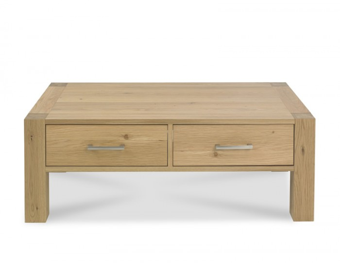 Ventura Light Oak Coffee Table with Drawers