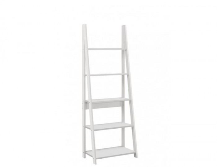 Nordic White Ladder Bookcase
