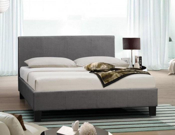 Alexa Grey Upholstered Bed Frame