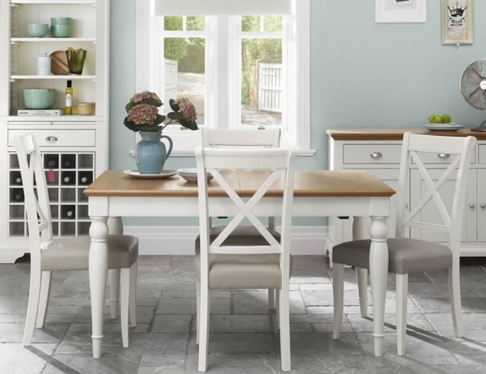 Hampstead Two-Tone Large Rectangular Extending Dining Set