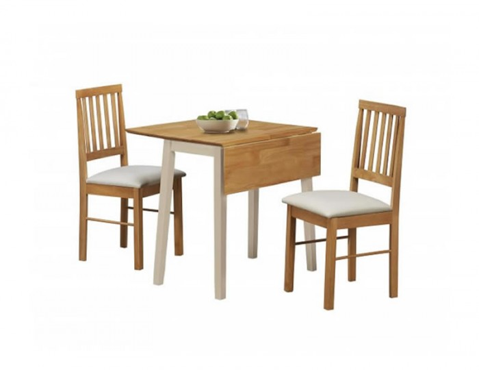 Lille Oak and Cream Drop Leaf Dining Set