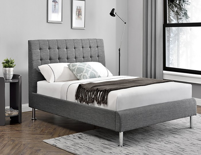 Lyra Charcoal Upholstered Bed