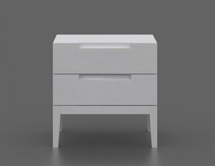 Magnolia 2 Drawer White Bedside Table