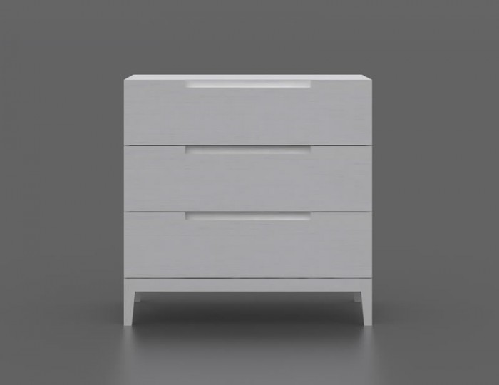 Magnolia 3 Drawer White Chest